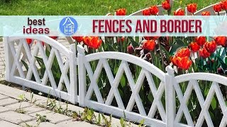 💗 Beautiful Garden Ideas - Decorative Fences And Border For Flower Beds | Landscaping