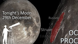 Tonight's Moon 29th December - Full Moon, What's New To View? 4K