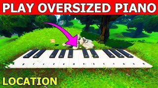 Fortnite: Play The Music Sheet at an Oversized Piano! LOCATION GUIDE! BOOGIE DOWN CHALLENGE (PIANO)