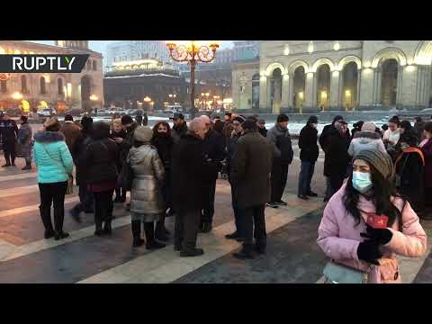 Protesters rally in Yerevan against PM Pashinyan