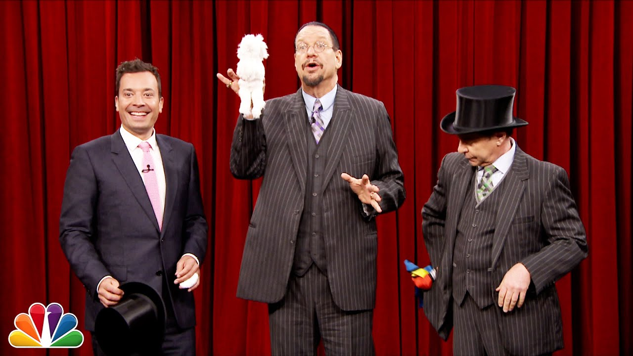 Penn and Teller Show Jimmy How to Pull a Rabbit Out of a Hat thumbnail