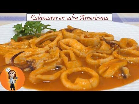 Calamares en Salsa americana | Receta de Cocina en Familia