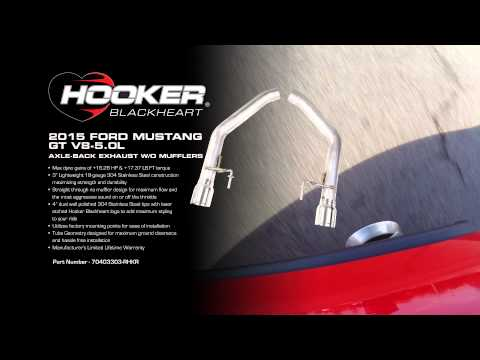 Hooker Blackheart 2015 Mustang GT Axle Back Exhaust System (no mufflers)