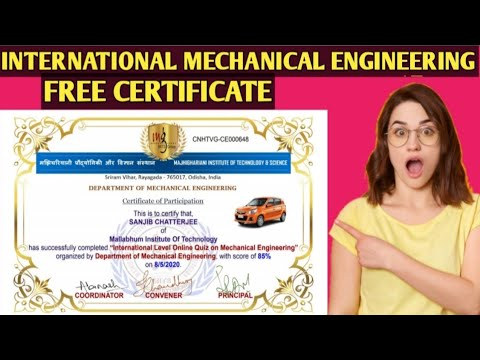 Mechanical engineering Free Certificate Course || Quiz | - YouTube