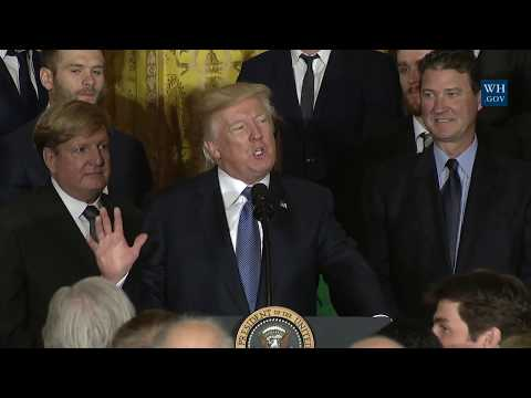 President Trump Welcomes The Pittsburgh Penguins to the White House