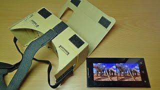 Очки виртуальной реальности (Google CardBoard) за 3$ с Focalprice.