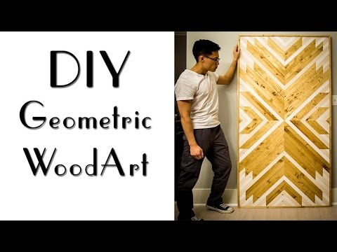 DIY Geometric Wood Art
