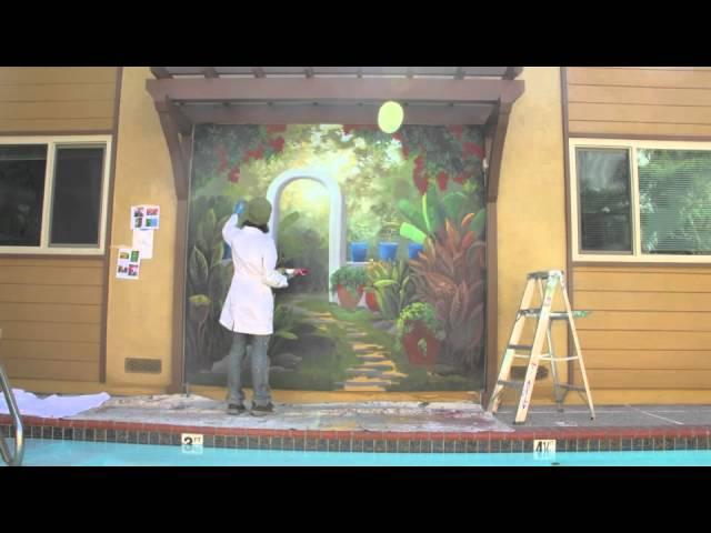 Tropical Mexican Garden Mural