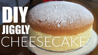 DIY JIGGLY Japanese Cotton CHEESECAKE Recipe | You Made What?