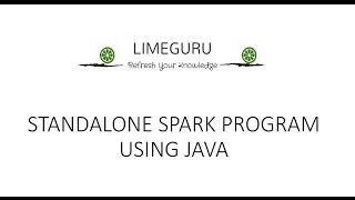 Write First Standalone Spark Job Using RDD In Java   Beginner's Guide To Spark