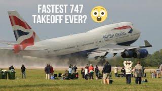 FAST TAKEOFF BY BRITISH AIRWAYS 747