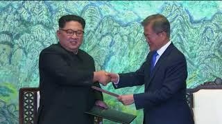 金正恩与文在寅签署《板门店宣言》