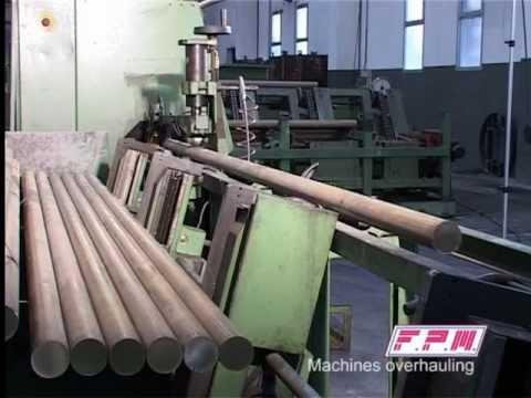 Linea automatica stampaggio ottone - segatrice, grafitatore, forno di riscaldo e pressa di stampaggio