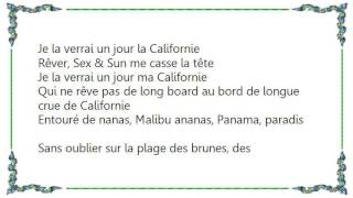 Christophe Maé - Californie Lyrics