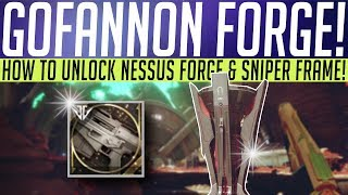 Destiny 2 // How To Unlock GOFANNON FORGE! Quest Steps, Sniper Frame & More!