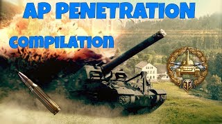 Arty AP Penetration compilation #1 [] World of Tanks