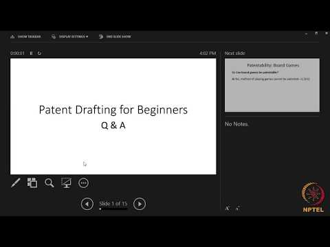 LIVE_Patent Drafting for Beginners - YouTube