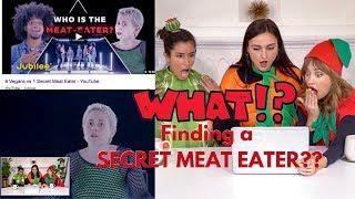 REACTION: 6 VEGANS vs 1 Secret MEAT EATER 🙀