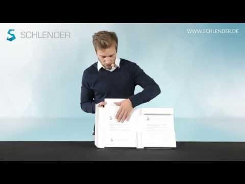 Doppelbox Doppelordner mit Kartontasche 12a