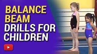 Gymnastics for Children - Balance Beam Drills - Coach Amy Eggleston