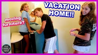 VACATION HOME TOUR! REARRANGING THE FURNITURE!!