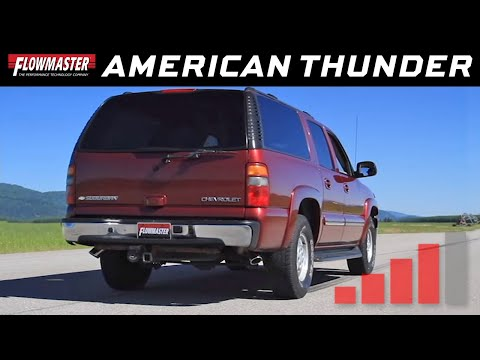 2001-06 GM Suburban, Avalanche, Yukon - American Thunder Cat-back Exhaust  System