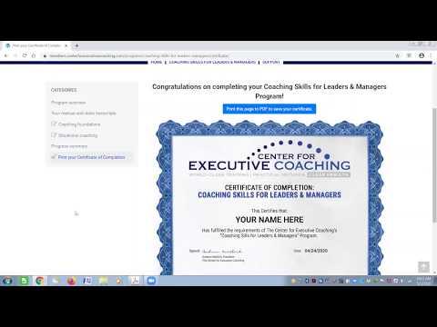 Coaching Skills for Managers Online Training Program - YouTube
