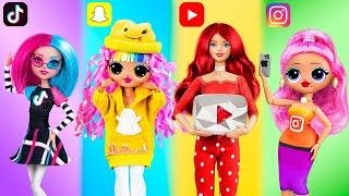 10 идей для кукол Барби и ЛОЛ в стиле социальных сетей