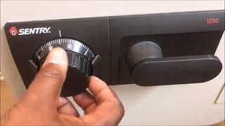 How To Open A Sentry Safe Three (3) Number Dial Combination Lock Model 1250