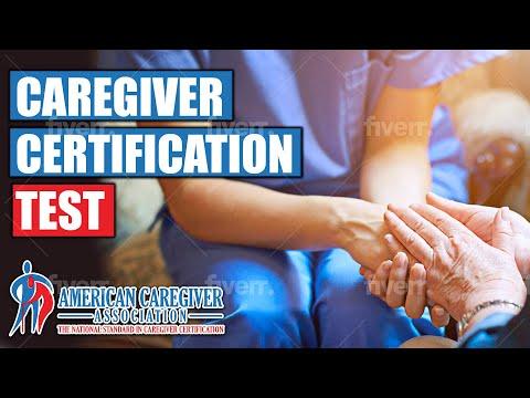 Caregiver Certification Test - YouTube
