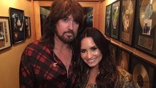 "Demi Lovato Teases ""Sorry Not Sorry"" Music Video & Parties With Miley Cyrus' Dad"