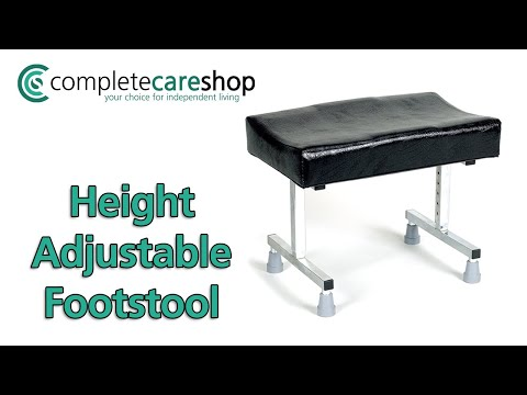 Cardiff Height Adjustable Footstool - Durable And Easy To Keep Clean