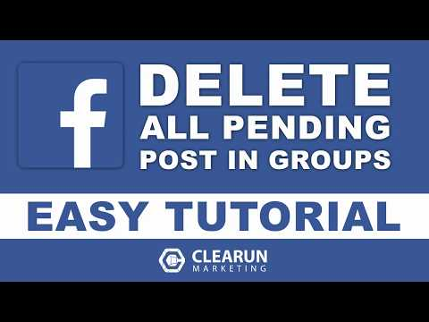 How to DELETE all PENDING posts in Facebook Groups | Easy Tutorial