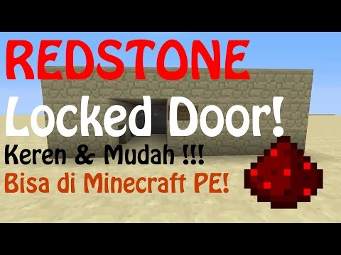 Video Cara membuat Redstone Locked Door !! (MUDAH!!) - MINECRAFT PE & PC!!