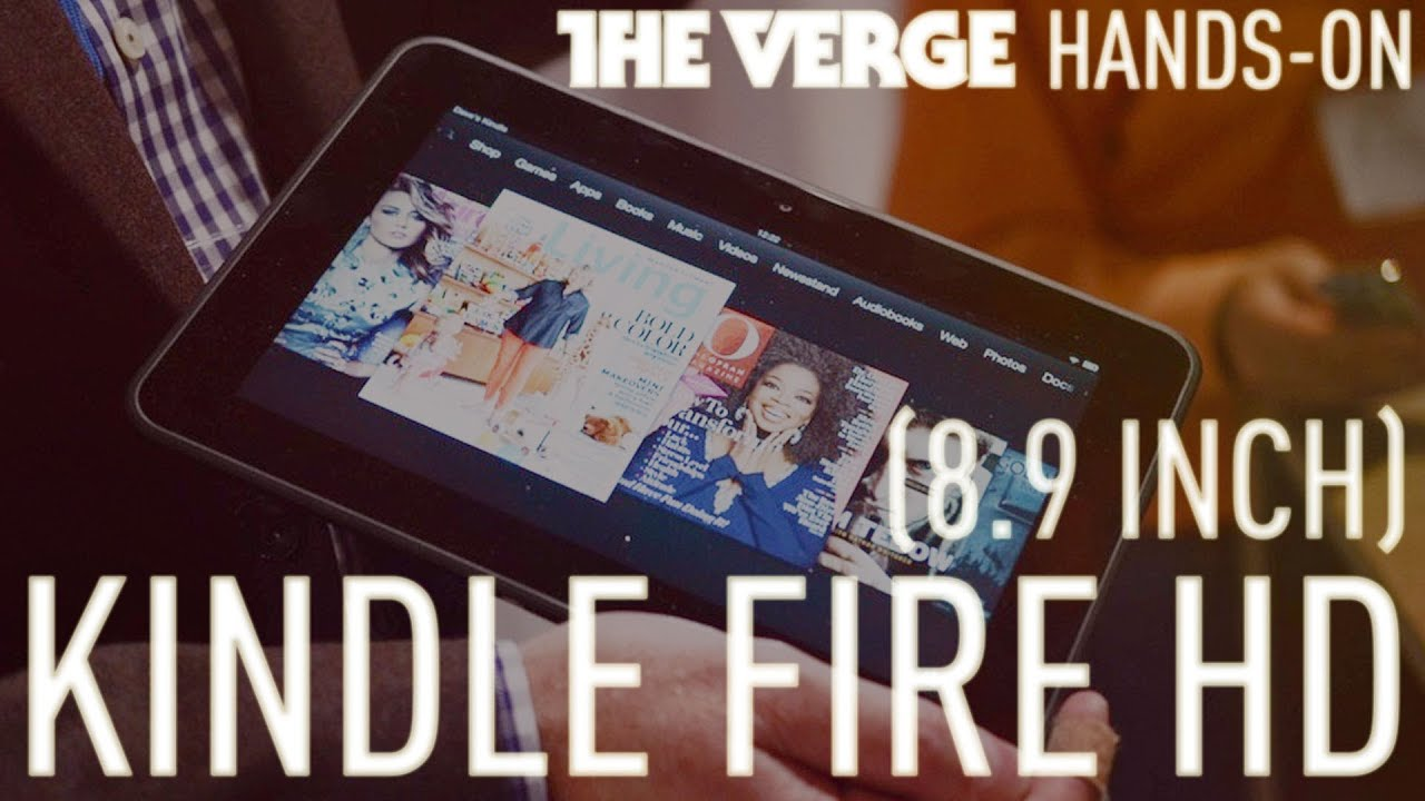 """Amazon Kindle Fire HD 8.9"""" first look thumbnail"""