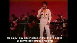 Elvis Presley - Walk A Mile In My Shoes - with story and song lyrics