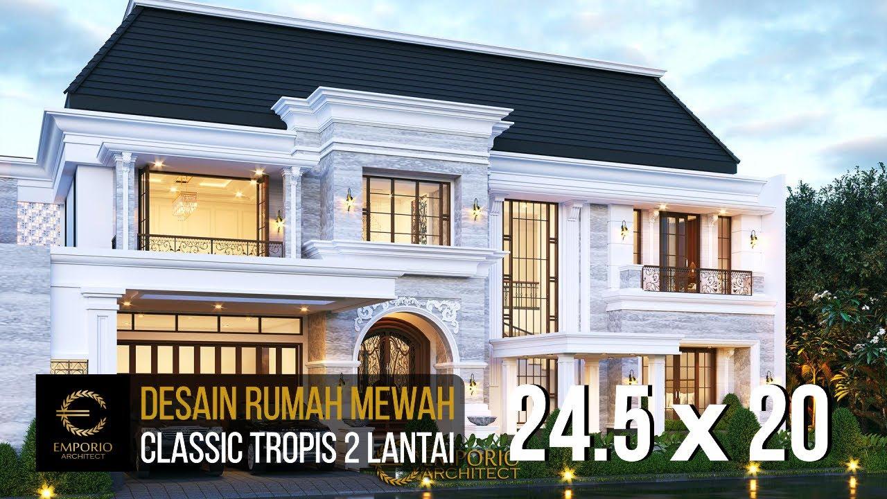 Video 3D Desain Rumah Classic 2 Lantai Ibu Desnita di Padang, Sumatera Barat