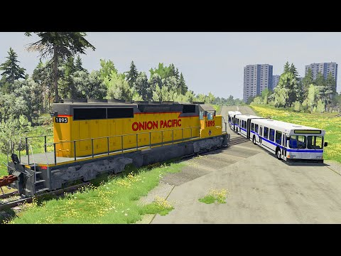 Articulated Bus #7 - BeamNG DRIVE | SmashChan