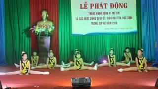 """Aerobic """"Bé Vui Khỏe"""" Trường Tiểu học Lê Lợi - Thành Phố Uông Bí - TỈnh Quảng Ninh"""