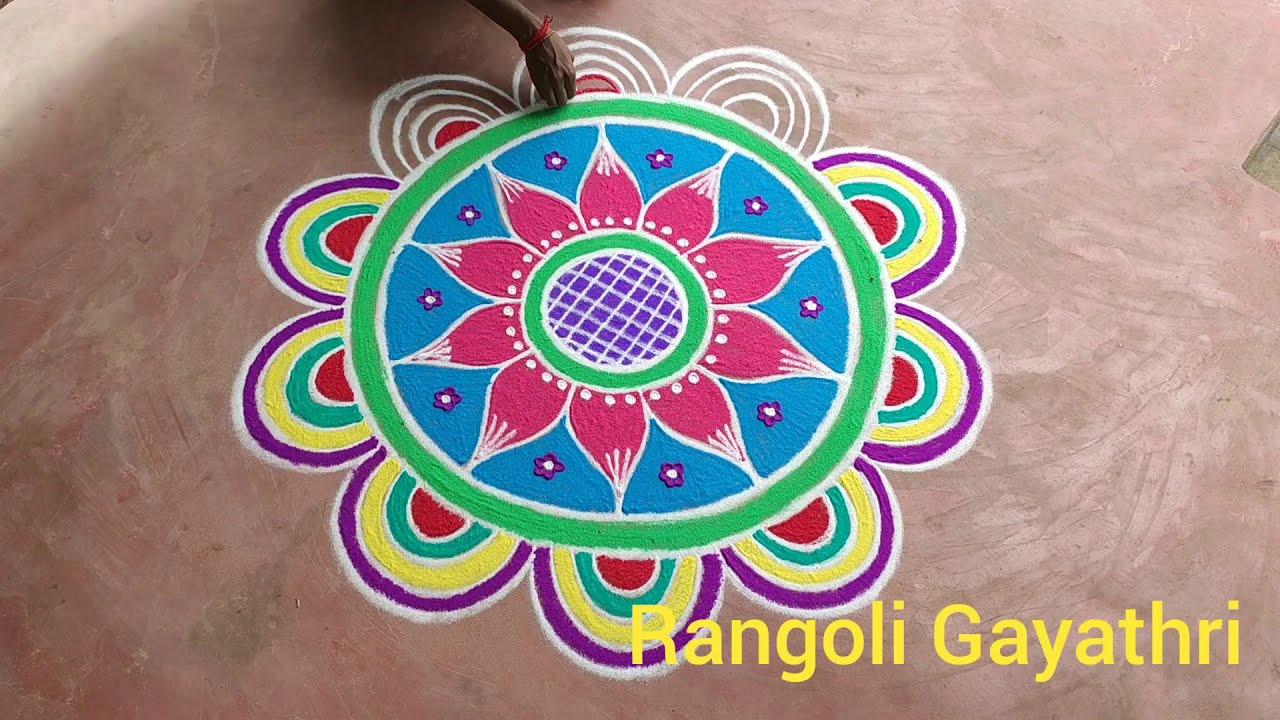 big rangoli designs by gayathri