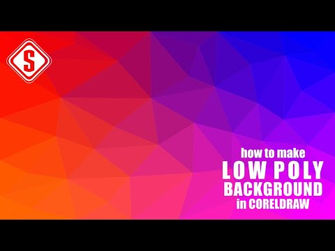 How to Make Low Poly Background Design in CorelDraw