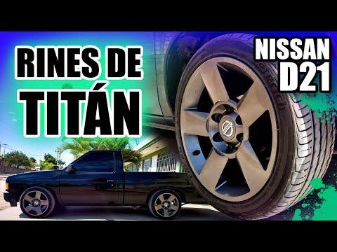 RINES para CAMIONETAS / Pickup D21 / MINI TRUCK RIMS ( Instalacion en Nissan Hardbody )   OrdoTunes