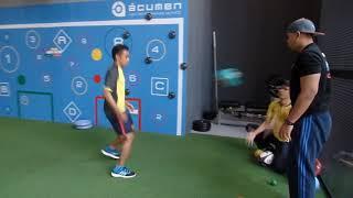 Malaysia Sepak Takraw Player Farhan Adam Training At Acumen Sports Malaysia