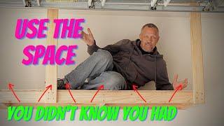 DIY Hanging Garage Shelves - Garage Storage Ideas