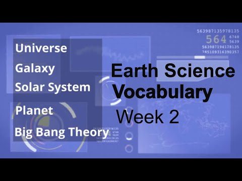 Earth Science Vocabulary Week 2