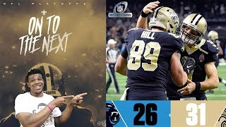 SAINTS BEAT THE PANTHERS ! DREW BREES IS BACK ! Panthers Vs. Saints | NFL Wild Card Game Highlights