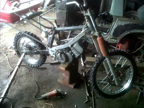 Video modifikasi rangka motor, by GP motor.....