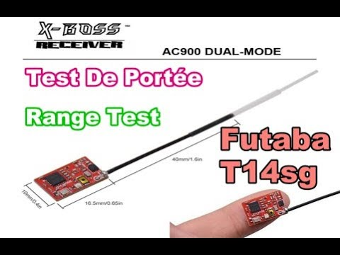 AC900 X-BOSS - Compatible FUTABA S-FHSS - Range Test - Test De Portée - Fly EGG 130