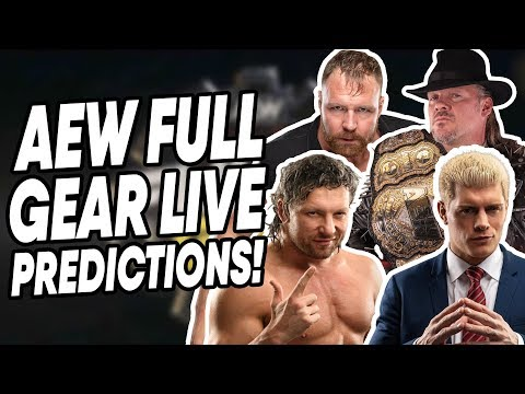 AEW Full Gear Predictions! Cody Rhodes vs Chris Jericho!!  | WrestleTalk