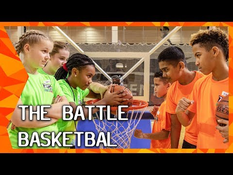 THE BATTLE: BASKETBAL SKILL GAMES met Tanya Bröring en Lucas Faijdherbe | ZAPPSPORT